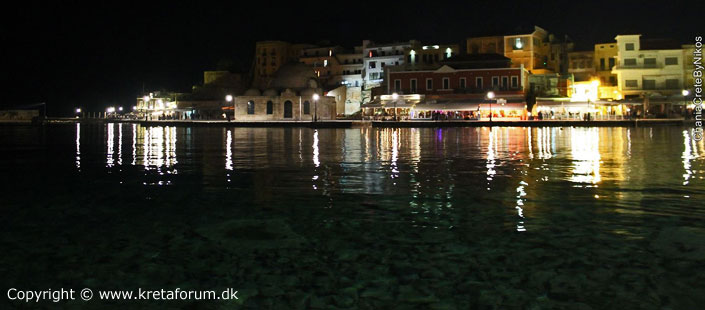 Chania Habour in the night
