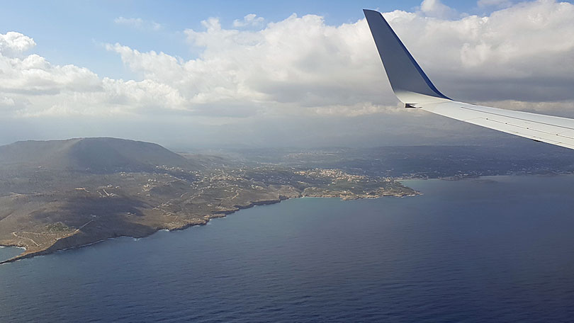 Flight to Chania airport